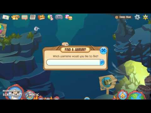 Animal jam - under water glitch