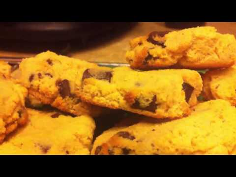 Coconut Flour Chocolate Chip Cookies (recipe in description)