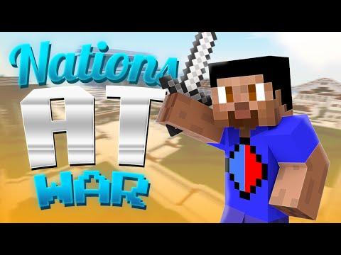 Minecraft NATIONS AT WAR #1 with Vikkstar & Preston (Minecraft RTS)
