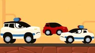 Машинки Мультики про машинки Полицейская погоня за красной машинкой
