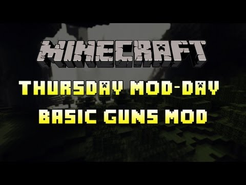 Minecraft Mod Showcase - Basic Guns Mod