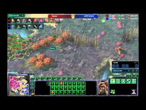 Zerg verse Terran fighting Mech with swarmhost + transition (hots)