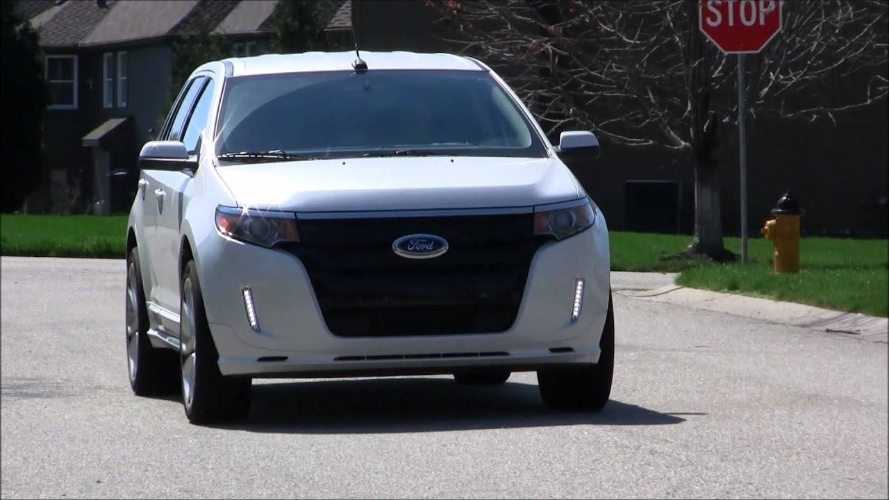 Philips daylight led drl converted stock lights 2012 ford edge sport youtube