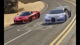 Ferrari LaFerrari vs Bugatti Chiron at Black Cat Country