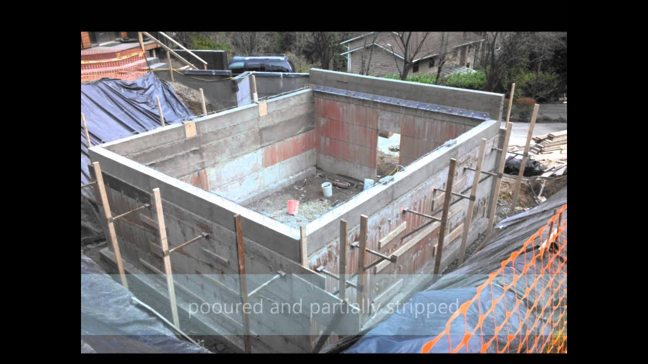 Bunker garage construction vid 1 youtube for Basement under garage
