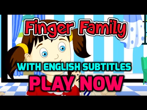 Finger Family with English Subtitles - Nursery Rhymes & Songs in HD