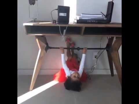 Baby North West Shows Off Her Gymnastics Skills
