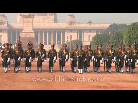 Foot Guards in their full-dress uniform at the Change of Guard in Rashtrapati Bhavan