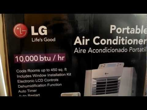 LG Portable Air Conditioner - model LP1010SNR 10,000 BTU