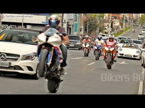 Bikers 80 - Kawasaki Burnout, Suzuki, Honda, BMW Wheelie, Yamaha Ducati & More Superbikes