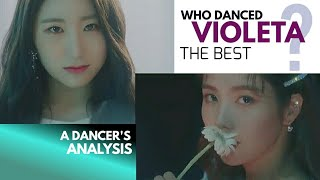 Who danced IZ*ONE VIOLETA the best? A Dancer's Analysis