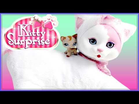 Kitty Surprise - LPS Cat Becomes a Father Skit! Toy Play - Mystery Blind Plush
