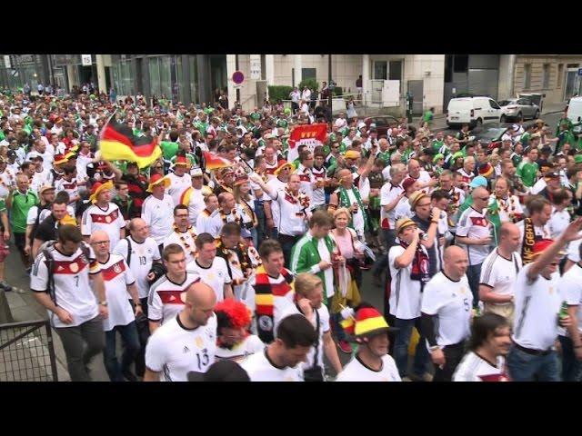 'Fanwalk' brings Germany, Northern Ireland fans together