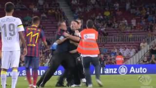 Fan Tryies To Attack Neymar! Barcelona vs Santos 2013