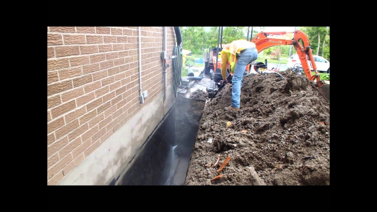 How to exterior basement waterproofing and weeping tile for Exterior drainage solutions