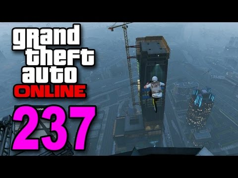 Grand Theft Auto 5 Multiplayer - Part 237 - Epic BMX Jump and Landing (GTA Online Let's Play)