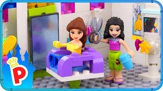♥ LEGO Belle Visits BEAUTY SALON for a Hair and Outfit Makeover