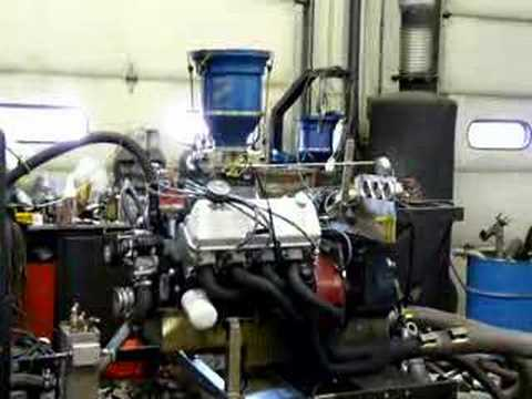 Ford 408 Cleveland CHI headed pump gas engine on dyno