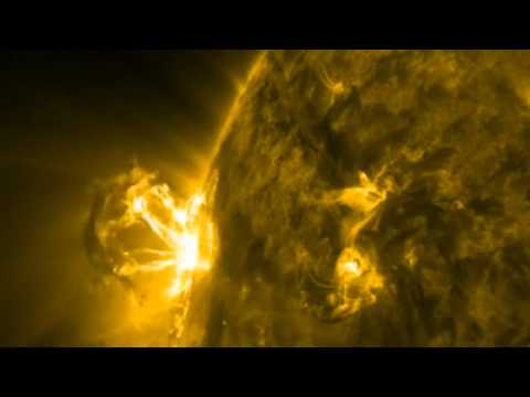 Huge solar eruption caught on film