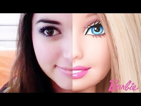 how to make yourself look like a barbie