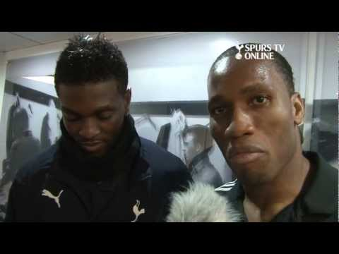 Spurs TV Exclusive | Drogba interviews Adebayor after Chelsea match