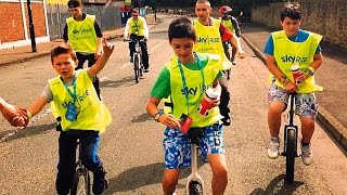 Mini Unicyclist - Manchester Sky Ride August 2014 on a Unicycle