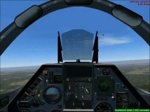 Aviação caça da FAB (Brazil air force) no flight simulator 2004