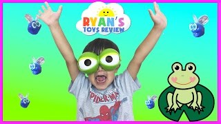 Family Fun Game for Kids Fool the Frog with Egg Surprise Toys Car