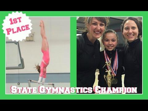 Level 7 State Gymnastics Champion | All-Around, Bars, Beam, Floor | Flippin' Katie