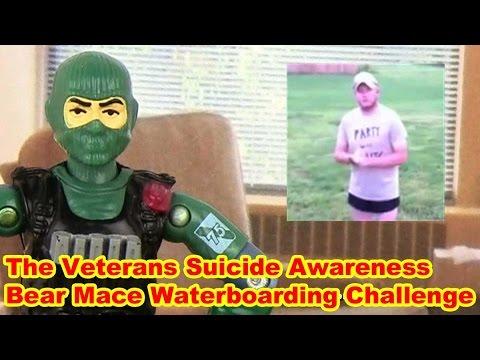 Veterans Suicide Awareness Bear Mace Waterboarding Challenge - Action Figure Therapy