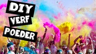 DIY COLOR POWDER | GEKLEURDE HOLI POEDER | Color run | ONZIN OF ZINNIG