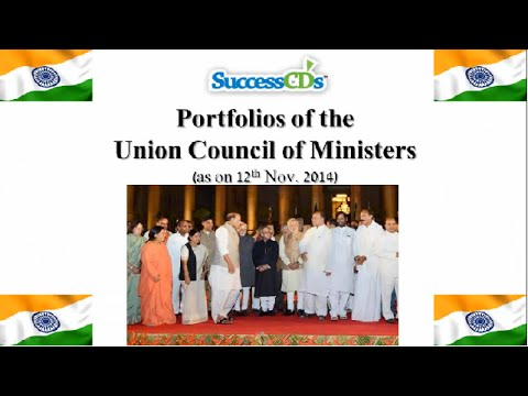 Union Council of Ministers Nov 2014 after Cabinet Expansion | Latest GK