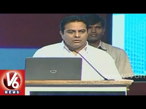 IT Minister KTR presentation on Digital Telangana at Metropolis conference