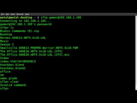 Secure FTP with sftp and ssh