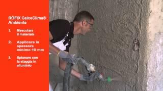 VIDEO RÖFIX CALCECLIMA® AMBIENTE su RÖFIX TV