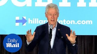 Protester accuses Bill Clinton of rape at campaign rally - Daily Mail