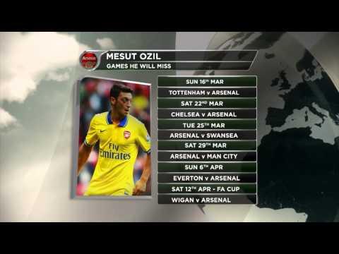 FC Arsenal sechs Wochen ohne Mesut Özil | Verletzung nach 1:1 gegen FC Bayern München