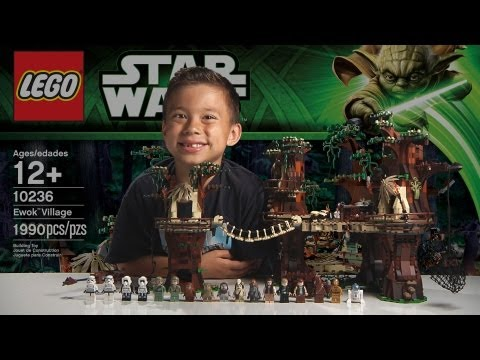 EWOK VILLAGE - LEGO Star Wars Set 10236 Time-lapse. Unboxing & Review