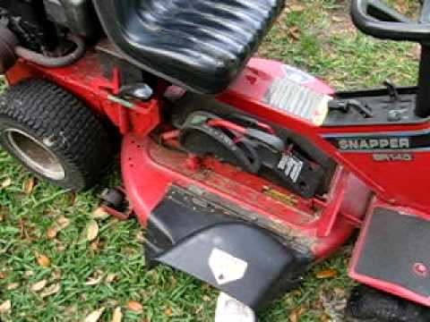 Snapper Riding Mower New Video 4/5/09