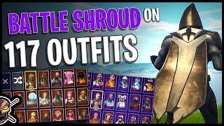 Battle Shroud Back Bling on 117 Outfits | Omen - Fortnite Cosmetics