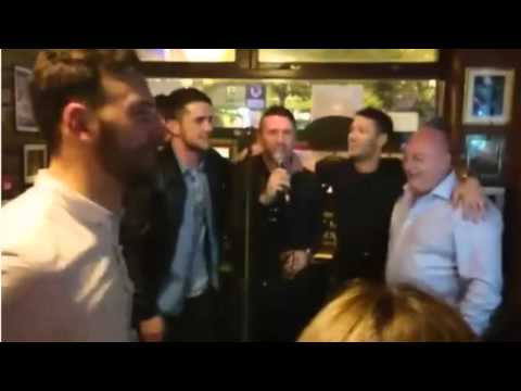 Robbie Keane sings, Shane Long plays the guitar as Ireland's players celebrate in a Dublin pub
