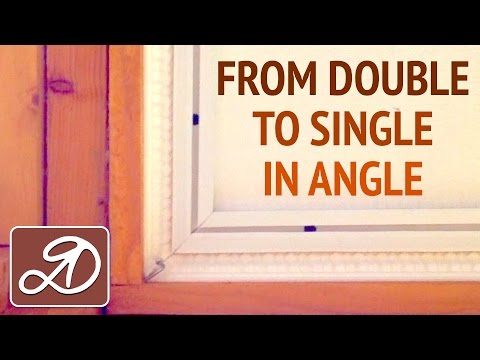 From single to double eaves. How to hang a ceiling cornice DIY