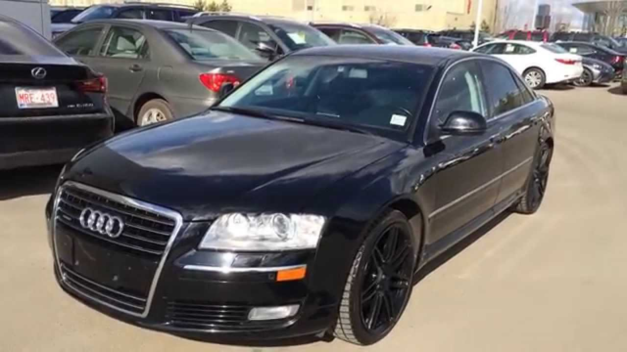 Pre Owned Black On Black 2008 Audi A8 Quattro Edmonton