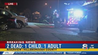 Child and adult dead after shooting, fire in Riverview