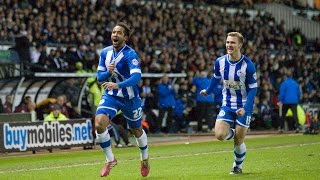 Jean Beausejour wonder goal - Derby County 0 Wigan Athletic 1 - January 2014