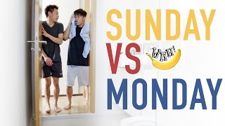 Sunday vs Monday