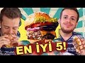 İstanbul'un En İyi 5 Hamburgercisini Test Ettim #AlperinEnleri