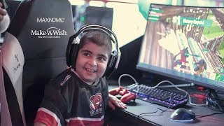 Nikos, 10… I wish to be the best Fortnite player! Make-A-Wish GR