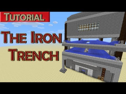 The Iron Trench - 1300+ iron/hour compact iron golem farm. Works in Minecraft 1.5.2