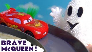 Disney Cars Toys McQueen Brave Spooky Racing with Hot Wheels Superhero Cars & funny Funlings TT4U